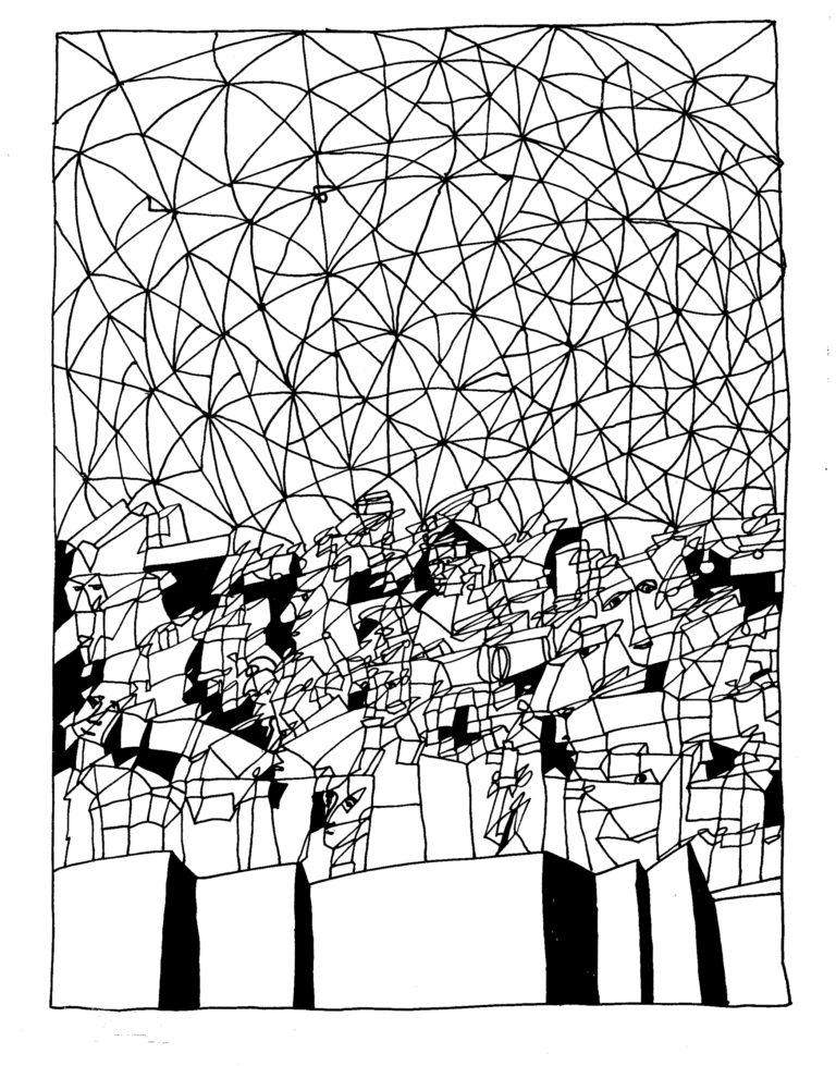 005 - feestje in geodetisch bouwwerk
