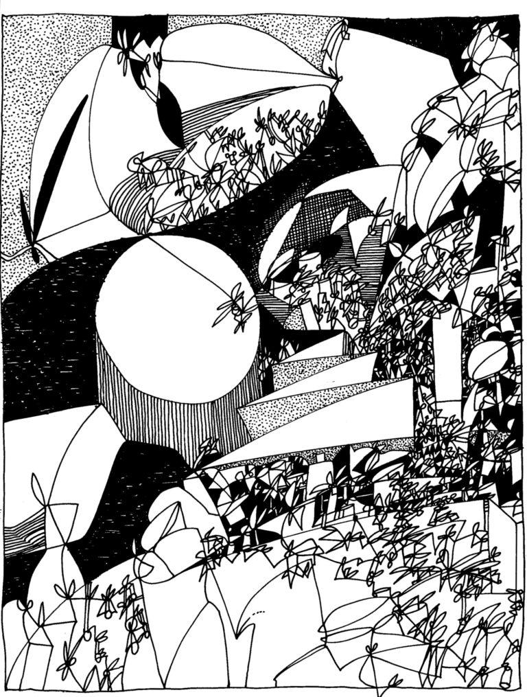 090 - compositie met zig-lijn