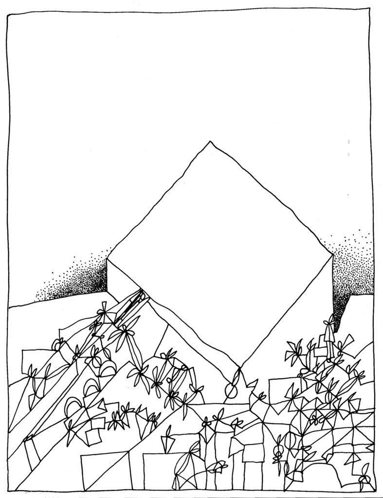 268 - compositie met blok
